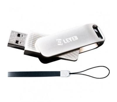 Накопичувач USB Flash 128GB USB 3.1 Leven Carousel Line Silver (JUS301SL-128M)