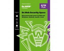 Антивірус Dr. Web Security Space 1 ПК/1 год (Версия 12.0). Картонный конверт (KHW-B-12M-1-A2)
