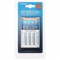 Зарядний пристрій для акумуляторів PANASONIC Smart-Quick Charger + Eneloop AA 1900 mAh NI-MH * 4 (K-KJ55MCC40E)