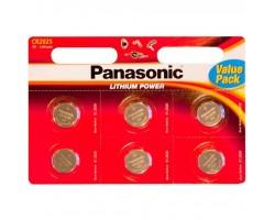 Батарейка PANASONIC CR 2025 * 6 LITHIUM (CR-2025EL/6B)