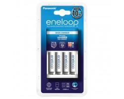 Зарядний пристрій для акумуляторів PANASONIC Basic Charger New + Eneloop 4AAA 750 mAh NI-MH (K-KJ51MCC04E)