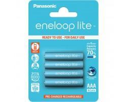 Акумулятор PANASONIC Eneloop Lite AAA 550mAh NI-MH * 4 (BK-4LCCE/4BE)
