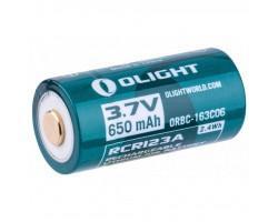 Акумулятор Olight 16340 с micro-USB 650 mAh (кабель в комплекте) (ORBC-163CO6)