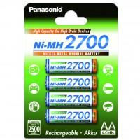 Акумулятор PANASONIC High Capacity AA 2700 mAh * 4 (BK-3HGAE/4BE) (поштучно)