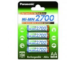 Акумулятор PANASONIC High Capacity AA 2700 mAh * 4 (BK-3HGAE/4BE) (поштучно)