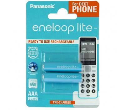 Акумулятор PANASONIC Eneloop Lite AAA 550mAh NI-MH Dect Series * 2 (BK-4LCCE/2DE)