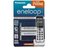 Акумулятор PANASONIC Eneloop AAA 750mAh NI-MH Dect Series * 2 (BK-4MCCE/2DE)