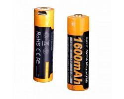 Акумулятор Fenix 14500 micro usb зарядка (ARB-L14-1600U)