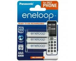 Акумулятор PANASONIC Eneloop AAA 750mAh NI-MH Dect Series * 3 (BK-4MCCE/3DE)