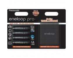Акумулятор PANASONIC Eneloop Pro AA 2500 mAh * 4 + Case (BK-3HCDEC4BE)