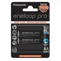 Акумулятор PANASONIC Eneloop Pro AA 2500mAh NI-MH * 2 (BK-3HCDE/2BE)
