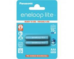 Акумулятор PANASONIC Eneloop Lite AAA 550mAh NI-MH * 2 (BK-4LCCE/2BE)