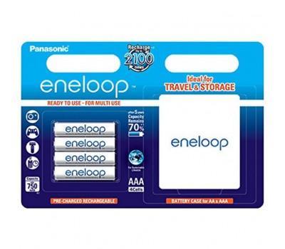 Акумулятор PANASONIC Eneloop AAA 750mAh NI-MH * 4 + case (BK-4MCCEC4BE)