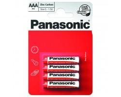 Батарейка PANASONIC AAA R03 RED ZINK * 4 (R03REL/4BP) (поштучно)
