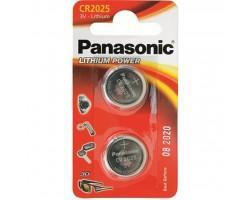 Батарейка PANASONIC CR 2025 * 2 LITHIUM (CR-2025EL/2B)