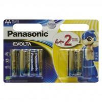 Батарейка PANASONIC AA Evolta LR6 * 6(4+2) (LR6EGE/6B2F)