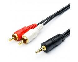 Кабель мультимедійний mini-jack(M) - > 2 RCA (M) 0.8m Atcom (10810)