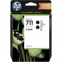 Картридж HP DJ No.711 DesignJet 120/520 Black (2*80ml) (P2V31A)