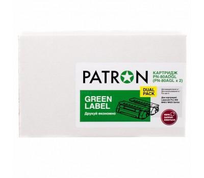 Картридж PATRON HP LJ CF280A GREEN Label (DUAL PACK) (PN-80ADGL)