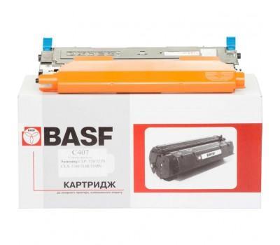 Картридж BASF для Samsung CLP-320/320N/325/CLX-3185 Cyan (KT-CLTC407S)