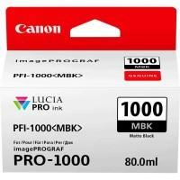 Картридж Canon PFI-1000MBk (Matte black) (0545C001)