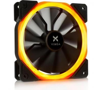 Кулер до корпусу Vinga LED fan-01 orange