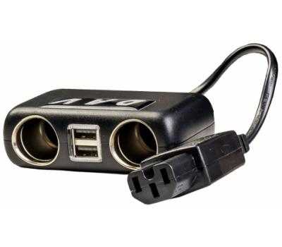 Адаптер DAV на 2 USB та 2 авторозетки