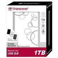 """Зовнішній жорсткий диск 2.5"""" 1TB Transcend (TS1TSJ25A3W)"""