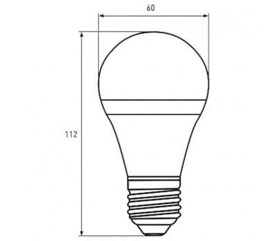 Лампочка EUROLAMP E27 (LED-A60-10273(D))