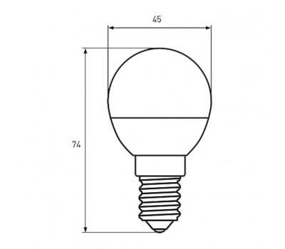 Лампочка EUROLAMP E14 (LED-G45-05144(D))