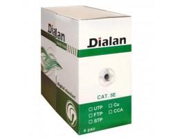 Кабель мережевий Dialan FTP 305м КНПЭ 4*2*0,50 [СU] ПВХ+ПЭ, Black (10563)
