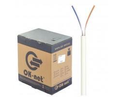 Кабель мережевий OK-Net UTP 305м 2 пары (КПВ-ВП (100) 2х2х0,50 / 305)