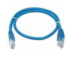 Патч-корд 0.5м, UTP, cat.5e, CU, 24AWG, blue Kingda (KD-PAUT3050BU)