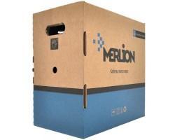 Кабель мережевий Merlion UTP 305м, cat 5e, CU, 4*2*0,50мм, ПВХ, outdoor (КПП-ВП (100) 4*2*0,50 / 17387)