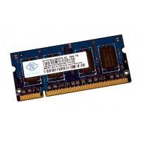 Оперативна пам'ять для ноутбука Nanya SODIMM DDR2 1Gb 800MHz 6400S CL6 (NT1GT64UH8D0FN-AD)