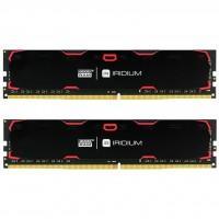 Модуль пам'яті для комп'ютера DDR4 16GB (2x8GB) 2400 MHz Iridium Black GOODRAM (IR-2400D464L15S/16GDC)
