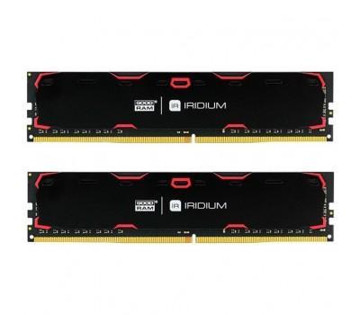 Модуль памяти для компьютера DDR4 16GB (2x8GB) 2400 MHz Iridium Black GOODRAM (IR-2400D464L15S/16GDC)