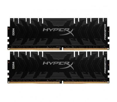 Модуль пам'яті для комп'ютера DDR4 32GB (2x16GB) 3200 MHz HyperX Predator Black Kingston (HX432C16PB3K2/32)
