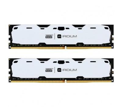 Модуль пам'яті для комп'ютера DDR4 16GB (2x8GB) 2400 MHz Iridium White GOODRAM (IR-W2400D464L15S/16GDC)