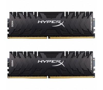 Модуль пам'яті для комп'ютера DDR4 16GB (2x8GB) 2666 MHz HyperX PREDATOR Black Kingston (HX426C13PB3K2/16)