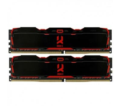 Модуль пам'яті для комп'ютера DDR4 16GB (2x8GB) 3000 MHz Iridium X Black GOODRAM (IR-X3000D464L16S/16GDC)