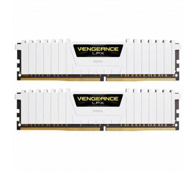 Модуль пам'яті для комп'ютера DDR4 16GB (2x8GB) 3200 MHz LPX White CORSAIR (CMK16GX4M2B3200C16W)