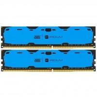 Модуль пам'яті для комп'ютера DDR4 16GB (2x8GB) 2400 MHz Iridium Blue GOODRAM (IR-B2400D464L15S/16GDC)