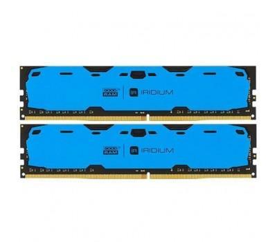 Модуль памяти для компьютера DDR4 16GB (2x8GB) 2400 MHz Iridium Blue GOODRAM (IR-B2400D464L15S/16GDC)