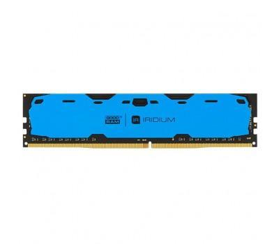 Модуль пам'яті для комп'ютера DDR4 4GB 2400 MHz Iridium Blue GOODRAM (IR-B2400D464L15S/4G)