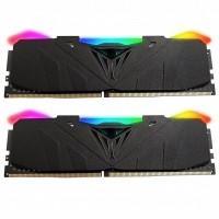 Модуль пам'яті для комп'ютера DDR4 16GB (2x8GB) 3200 MHz Viper RGB Black Patriot (PVR416G320C6K)