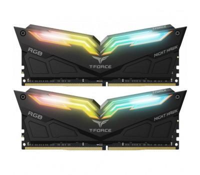 Модуль пам'яті для комп'ютера DDR4 16GB (2x8GB) 3000 MHz T-Force Night Hawk RGB Black Team (TF1D416G3000HC16CDC01)