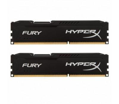 Модуль пам'яті для комп'ютера DDR3 16GB (2x8GB) 1600MHz HyperX Fury Black Kingston (HX316C10FBK2/16)