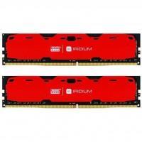 Модуль пам'яті для комп'ютера DDR4 8GB (2x4GB) 2400 MHz Iridium Red GOODRAM (IR-R2400D464L15S/8GDC)