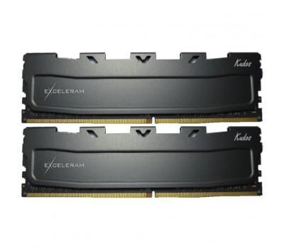 Модуль памяти для компьютера DDR4 16GB (2x8GB) 2666 MHz Black Kudos eXceleram (EKBLACK4162618AD)